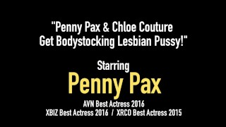 Penny Pax & Chloe Couture Get Bodystocking Lesbian Pussy! Big mature