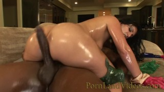 sexy Arab Milf jumping on BBC with Fat oiled Ass