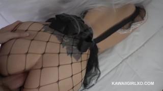 Fucked moans getting while maid her big booty neko view braces