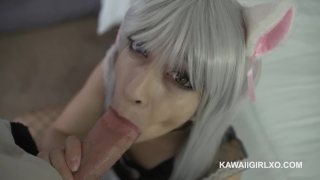 Neko Maid Moans While Getting Her Big Booty Fucked Pounded trimmed