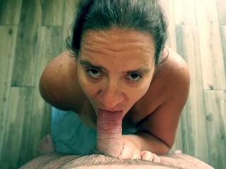 POV Blowjob and Facial - Missy Sucking Husbands Dick