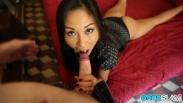 Date Slam - Asian MILF nailed by white businessman in Italy - Part 1
