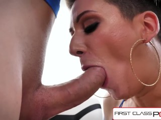 FirstClassPOV – Della Dane sucking a monster cock, big boobs & big booty