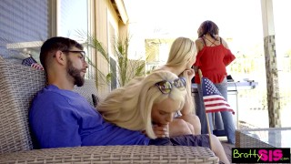 BFFs Sneak Fuck Sleepy Stepbro At July 4th Family BBQ! S5:E12 Big massive