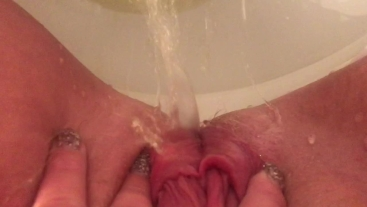 young pov piss in toilet