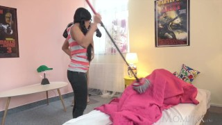 MOM Petite Thai maid shocks young man of house with a fuck in his bedroom  thai facesitting funny momxxx asian mom blowjob small tits milf kink petite mother suzie q pussy eating young and old