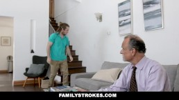 FamilyStrokes - Tomboy Stepsis Rides her Stepbros Cock