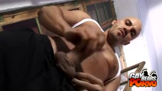 Kinky Bald Bear Jacking Off Twinks muscular