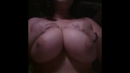Playing With Huge Natural F Cup Tits