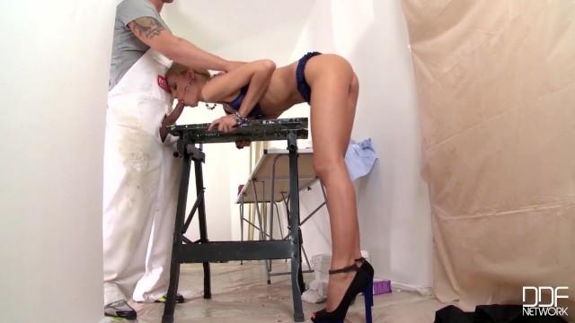 Annika Albrite Licks & Fucks Nikki Benz's Sweet Wet Pussy!