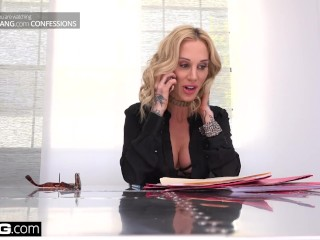 Preview 4 of Boss babe Sarah Jessie fucks her assistant on the job