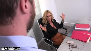 Preview 3 of Boss babe Sarah Jessie fucks her assistant on the job