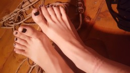 Aftermath: dirty soles and rope marks