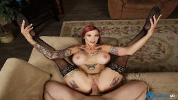 BaDoinkVR.com Inked Punk MILF Anna Bell Peaks Takes Your Cock As Her Toy
