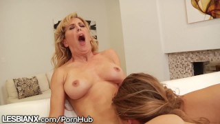 LesbianX Cherie & Lilly Feast on Vag and Dovefuck 4 Cum!