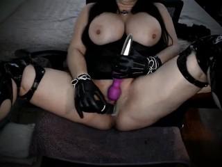 Vibrator deep inside pussy