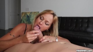sexy milf dancer and do a perfect handjob man model