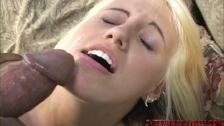 Young girl Jacky Joy gets scared of big black dick that fucks her
