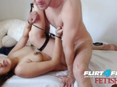 Amanda and Daniel on Flirt4Free Fetish - Sexy Babe Tied Up and Fucked Hard