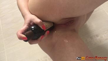 Anal Mastrubation with a Flacon