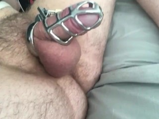 Shaking my Dick and Big Balls around in a Chastity Cock Cage! Hairy Ass