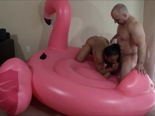 Creampie - Fucking on inflatable