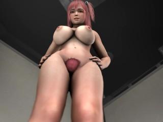Honoka Ballbusting her Workout Partner