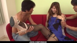 Reira Aisaki gets two dicks to stimulate her tight - More at javhd.net