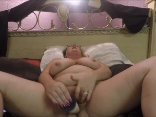 The Slut Scarlett riding a dildo for a fan
