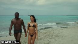 BLACKED Hot Spanish Model Hooks Up With BBC On Spring Break In Ibiza