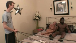 Sexy Granny fucks grandson's black buddy sally D'angelo