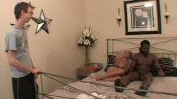 Sexy Granny fucks grandson's black buddy sally D'angelo