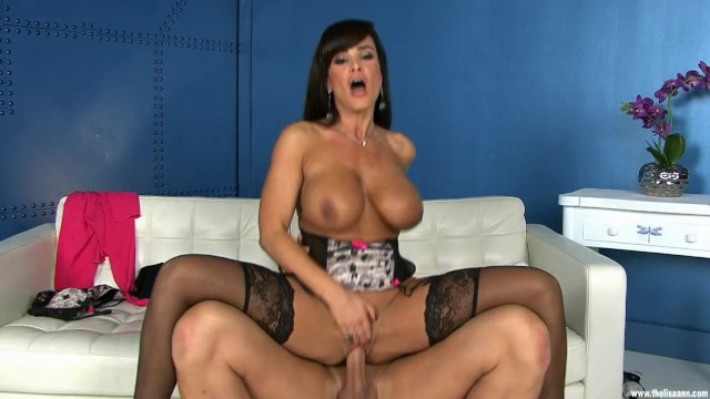 Hot Housewife Lisa Ann Rides Dick On Couch In Blue Lingerie Kitty-kats 1
