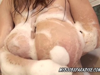 Preview 6 of Huge boobs Terry in HotTube masturbate and bouncing boobs