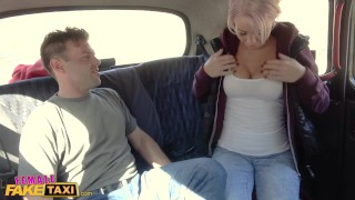 Preview 5 of Female Fake Taxi Busty driver swaps fare for fuck