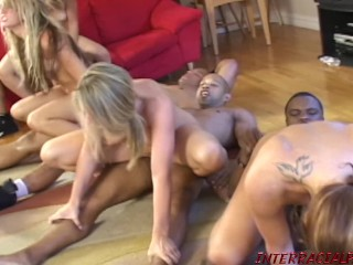Big Black Cock Orgy Fuck Fest with Barbie Cummings and her slut girlfriends