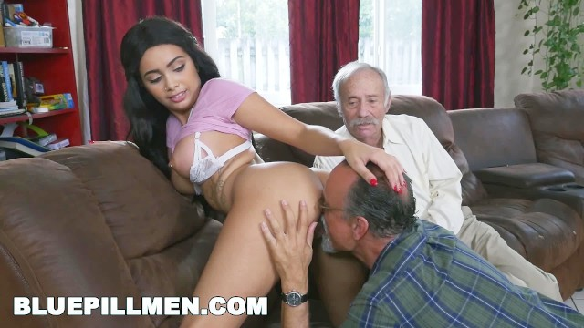 Senior men fuck free movies Blue pill men - gorgeous black pornstar aaliyah hadid fucks old men