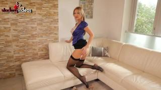 StockingVideos - Busty Stockings Wife Sucking job