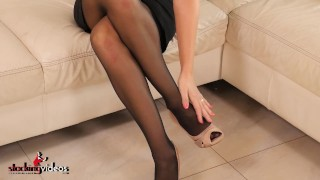 StockingVideos - Busty Stockings Wife