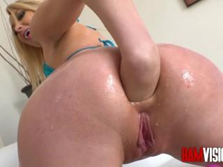 Kezia Noble Hot Fucking, BAMvisions GiA Love Prepares her ass for a Big Dick Big Dick Blonde Blowjob