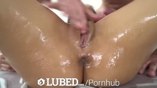 Fuck lubed oiled up discipline small bush