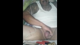 Tented up smoking meth and pumping cock