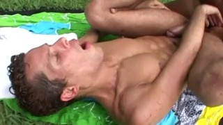 Jizz shots hunky outdoor missionary interracial