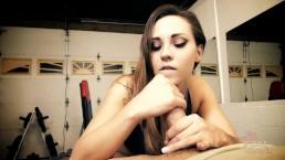 Sasha Foxxx slow edging gym handjob