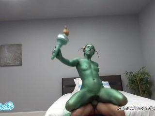 Camsoda – Statue of Liberty Fucks Uncle Sam