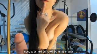 LATINA SEXY GIRL JOI JERK OFF ON GYM PUNHETA GUIADA NA ACADEMIA Toys femdom