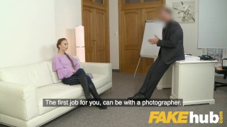 Fake Agent Big facial for sweet Russian model with perfect ass and pussy Crea creampie