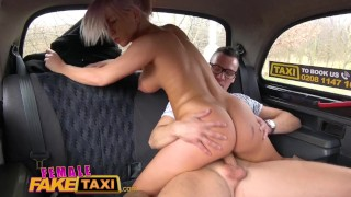 Swaps fare fuck driver taxi busty for hot female fake bored taxi taxi drilled