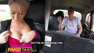 Female Fake Taxi Bored busty driver swaps fare for hot taxi fuck Pov ginahotwife