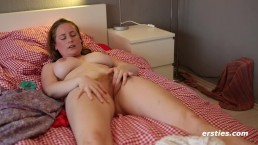 Amateur with Big Luscious Natural Tits Masturbation - Ersties